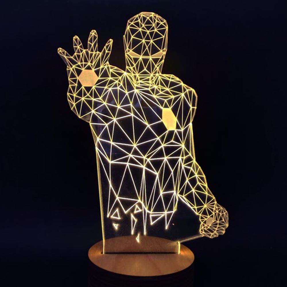 Light Bulb Novelty Lamp : Novelty Unique 3D Illusion Bulb Lamp Night Light USB Table Desk Lamps Bedside eBay