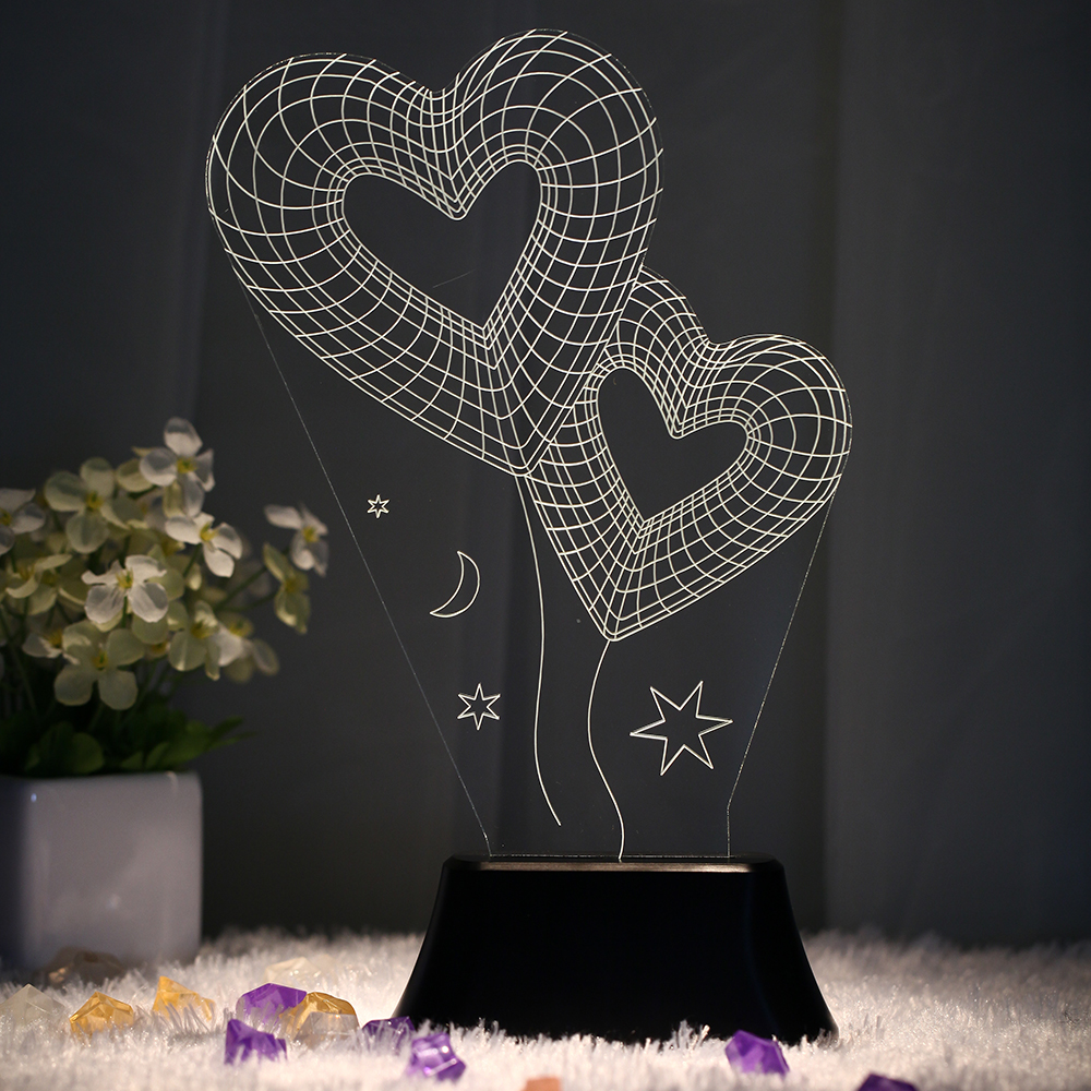 Home Novelty Unique 3d Bulb Lamp Led Night Light Usb Table