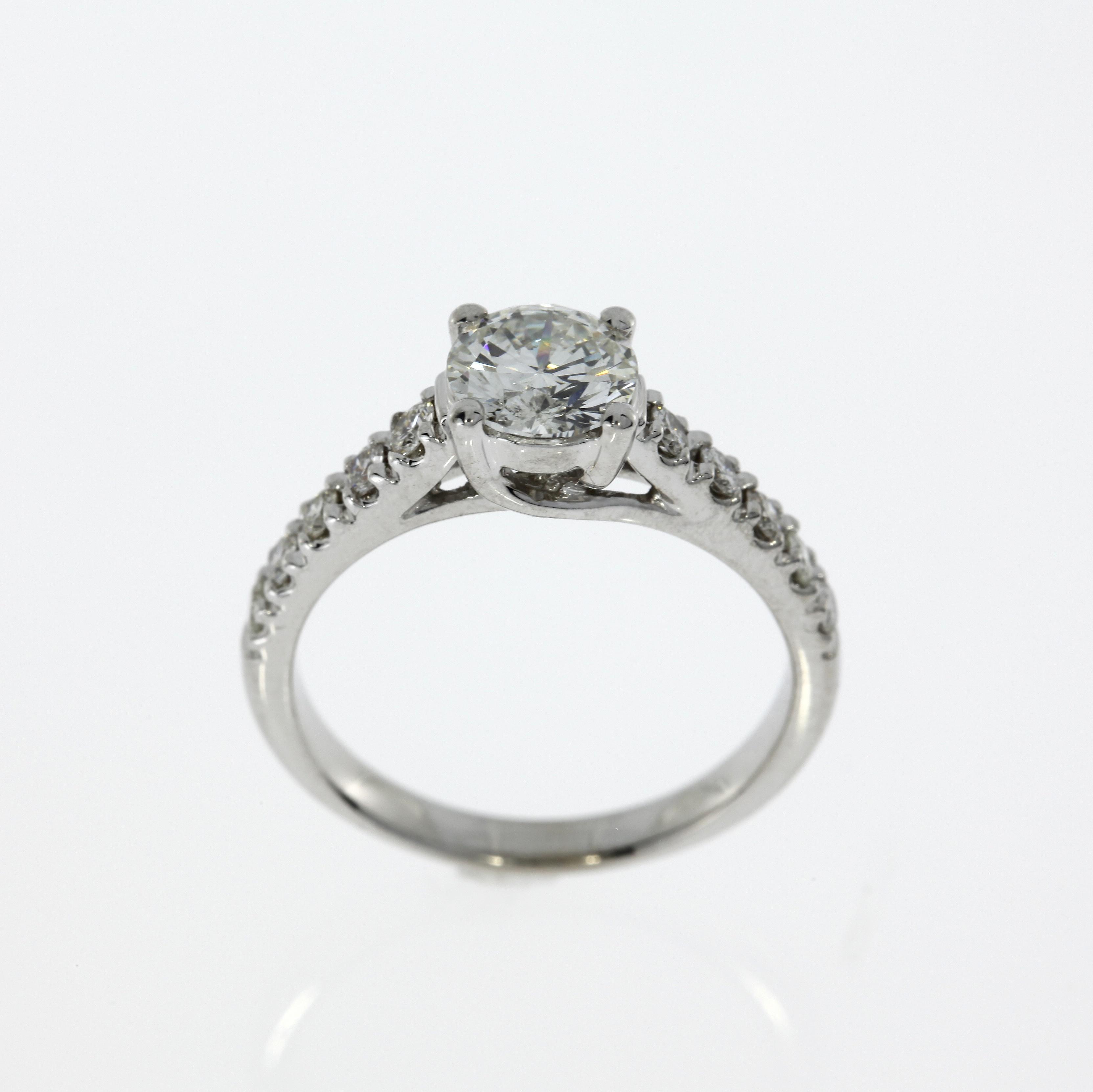 COLORLESS 1 49 CT ROUND DIAMOND RING LADIES ANNIVERSARY VS1 18 KARAT WHITE GO
