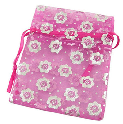 Nice Flower Pattern Organza Jewelry Storage Party Gift Decoration Bag Mini Pack