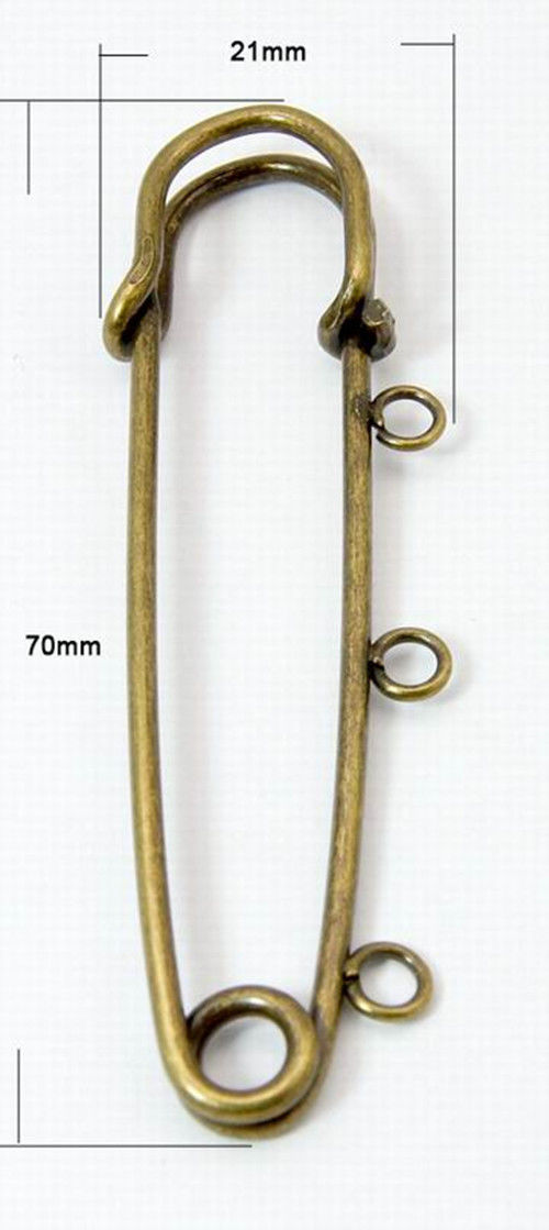 5pcs antique bronze iron kilt pin brooch safety pin with loops finding 70x21mm ebay 5pcs antique bronze iron kilt pin brooch safety pin with loops finding 70x21mm