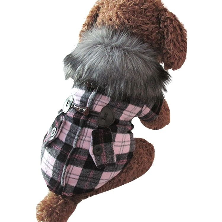 Plaid Horn Costume Fleece Coat Jacket Hoodie Pet Cat Puppy Small Dog Clothes New