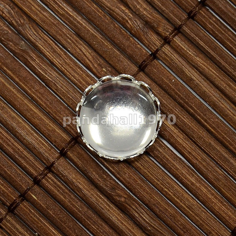 10pcs Clear Magnifying Glass Cabochon Domed -Flat Round DIY Photo Brass Making