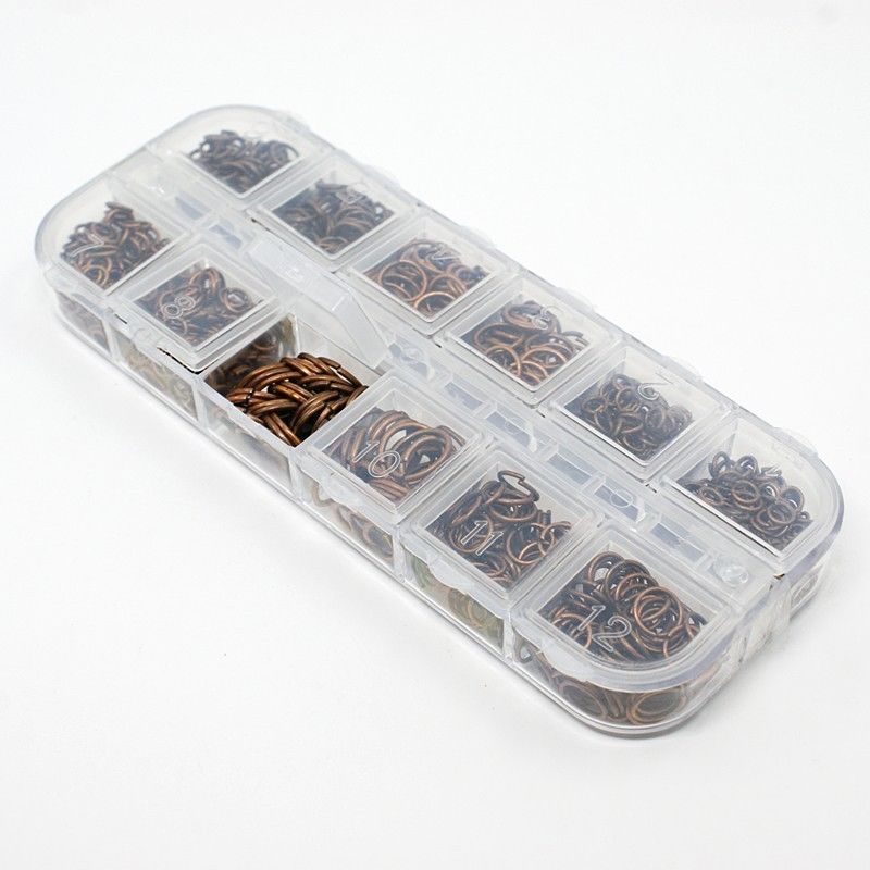 59g/box 7 Colors Close but Unsoldered Iron Jump Rings DIY Jewelry Finding Making