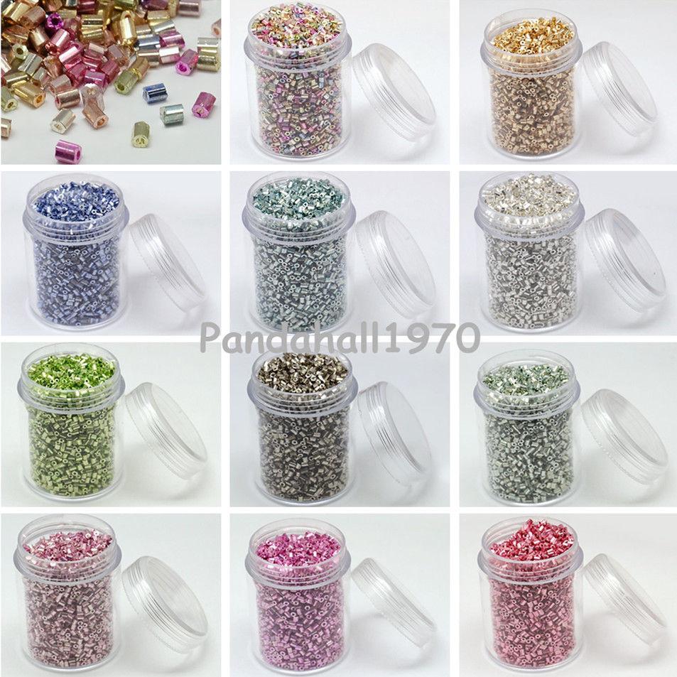 1box Boxed Electroplate Iris Round Glass Dyed 11/0 2-Cut Seed Beads 3000pcs/box