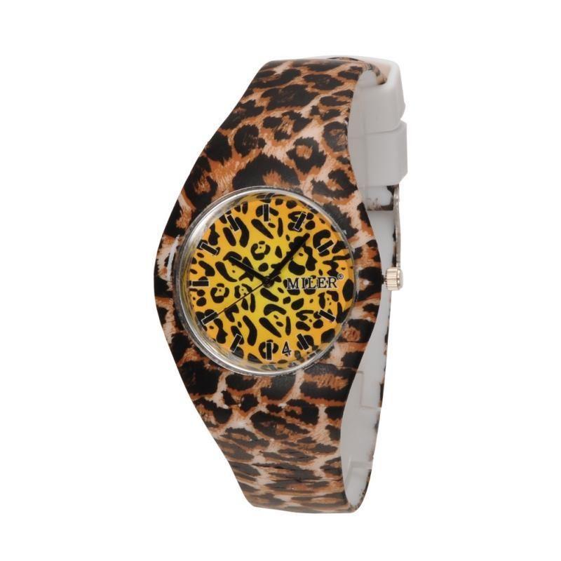 MILER Women Girl Silicone Jelly Stainless Steel Back Quartz Wrist Watch 240x18mm