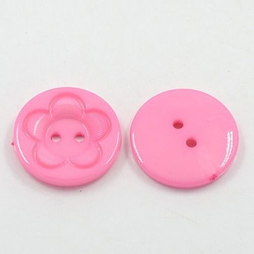 100pcs 2-Hole Acrylic Sewing Buttons Plastic Button Flower Crafts Flat Round