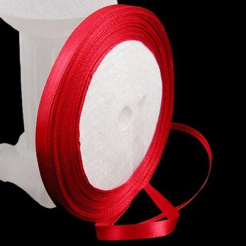 25yards/Roll 6mm DIY Crafting Sided SATIN RIBBON Reels Gift Wedding Decoration