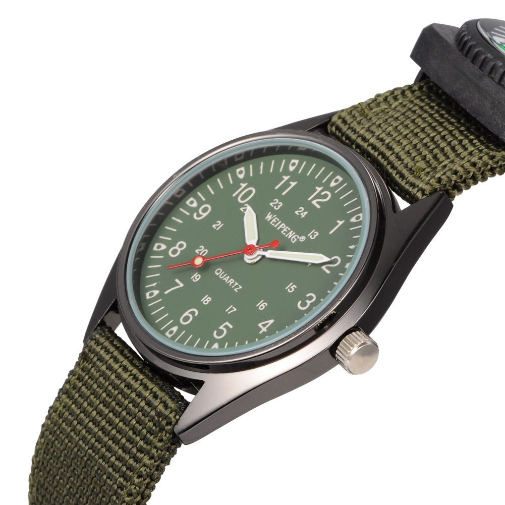 Weipeng men 39 s military stainless steel wrist watches with compass wach n005 01 ebay for Watches with compass