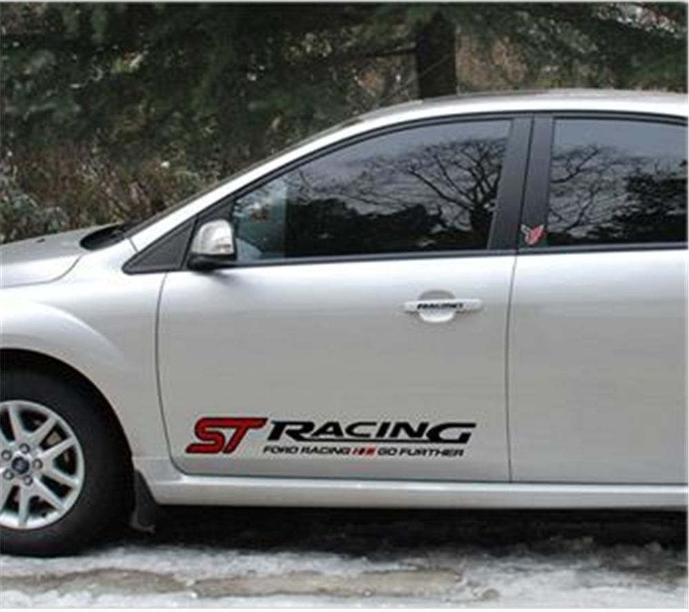 Car Decal ST Racing Sports Side Door Sticker For Ford Focus - Sporting car decals