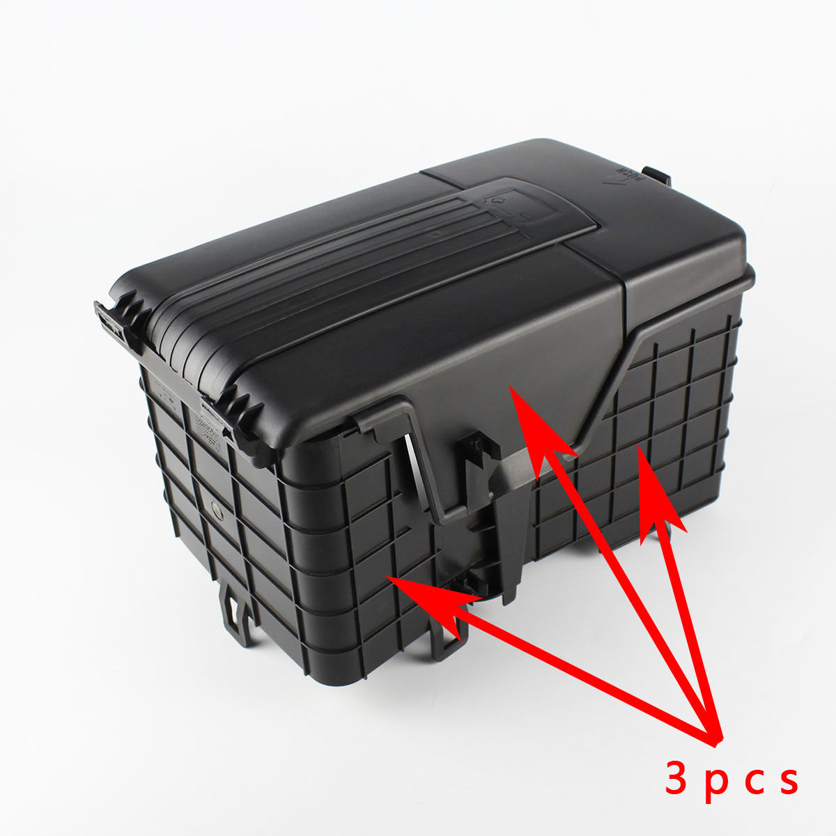 3pcs original battery tray trim cover fit for vw golf. Black Bedroom Furniture Sets. Home Design Ideas