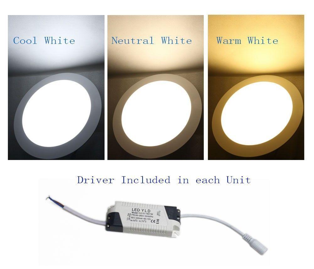 LED Bright Recessed Ceiling Panel Down Light Lamp Bulb 3W 6W 9W 12W 15W 18W