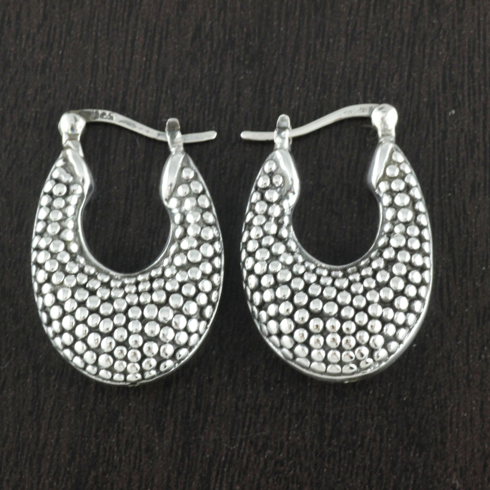 Amazing Womens Huggie Hoop Earrings White Gold Filled Silver Leverback