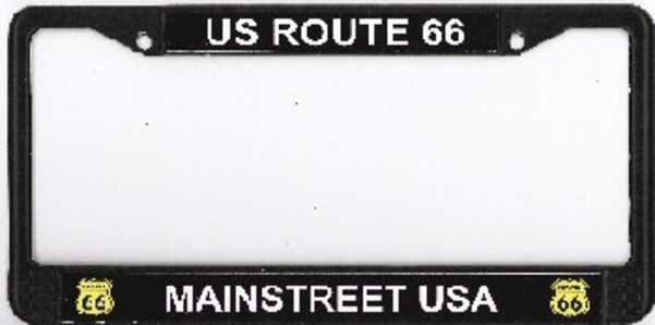 ROUTE 66 Mainstreet USA Photo License Plate Frame Free Screw Caps Included