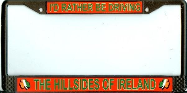 Ireland/Irish/Shamrocks Photo License Plate FRAMEs  Free Screw Caps with this FRAME
