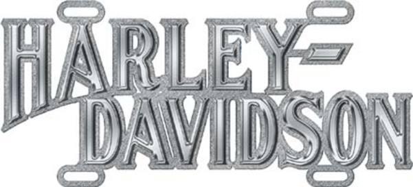 Harley-Davidson Chrome Script DIE CAST Auto Tag