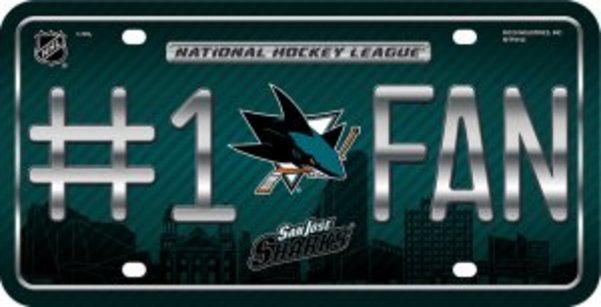 San Jose Sharks #1 FAN Metal License Plate