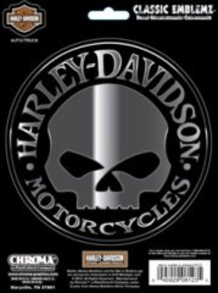 HARLEY DAVIDSON Willie G. Skull Decal
