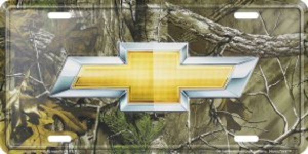 Chevrolet Bow TIE Woodland License Plate