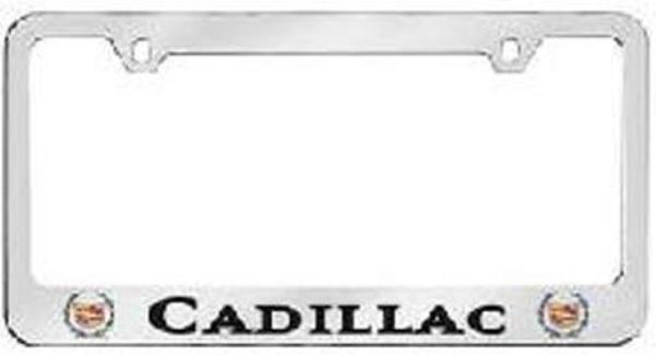 Cadillac Solid Brass License Plate Frame