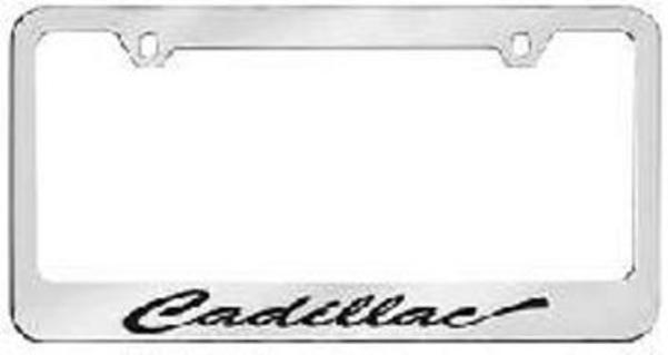 Cadillac (Script) Solid Brass License Plate Frame