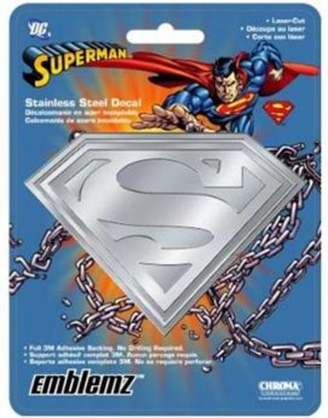 Superman Stainless Steel DECAL