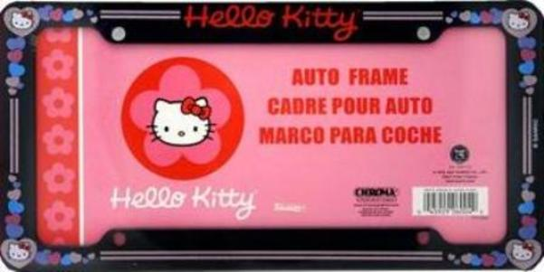Hello Kitty Plastic License Plate Frame Free Screw Caps INcluded