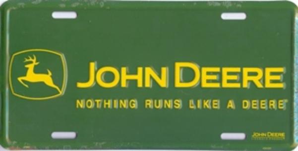 JOHN DEERE-Nothing Runs Like a DEERE License Plate