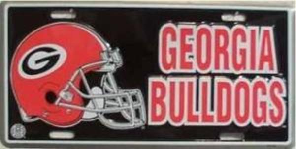 Georgia Bulldogs HELMET License Plate