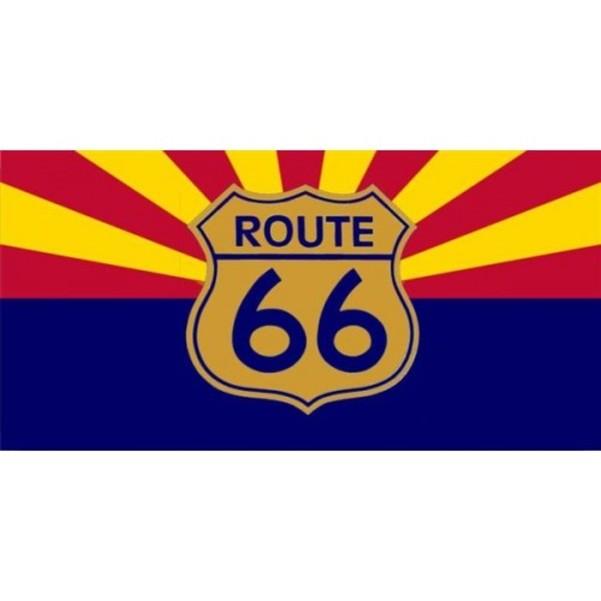 ROUTE 66 Arizona Flag Photo License Plate