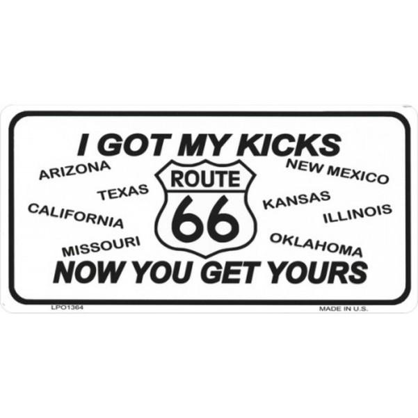 ROUTE 66 I Got My Kicks Photo License Plate