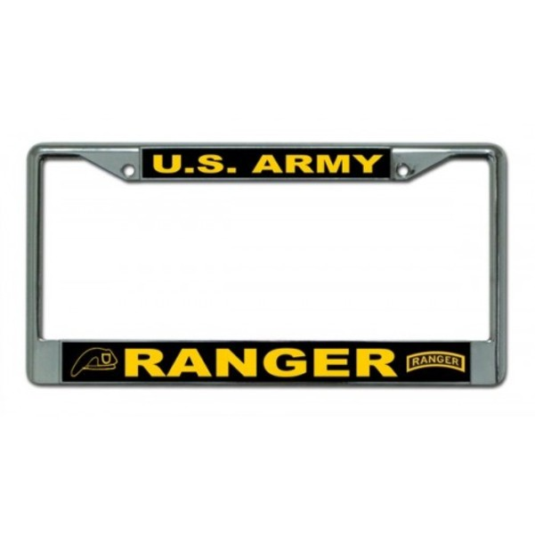 U.S. ARMY Ranger Photo License Plate Frame  Free Screw CAPs with this Frame