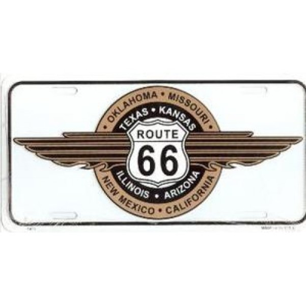 ROUTE 66 8-States Wing License Plate