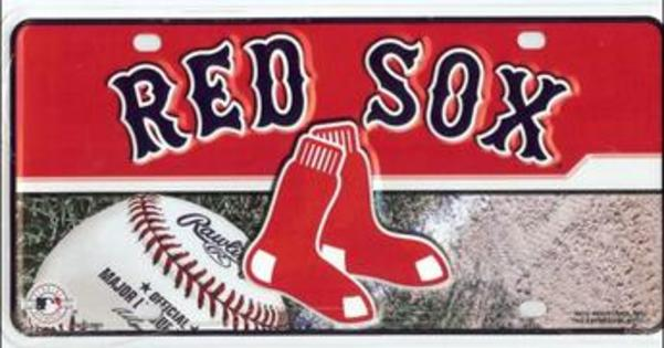Boston RED SOX Metal License Plate
