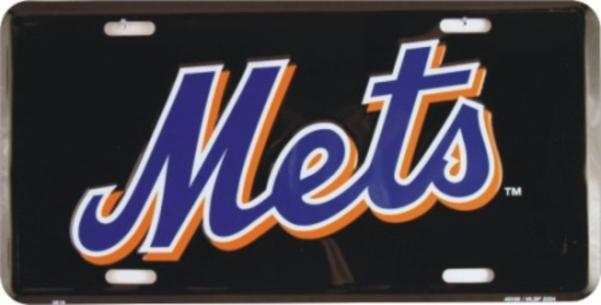 NEW York Mets (Black) License Plate
