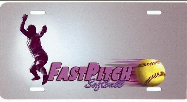 Fastpitch SOFTBALL Airbrush License Plate Free Names on this Air Brush