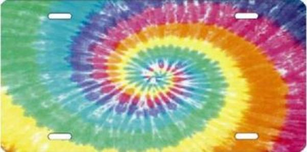 TIE DYE Airbrush License Plate Free Names on this Air Brush