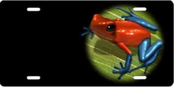 DART Frog Offset Airbrush License Plate Free Personalization on this Air Brush