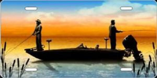 Boat FISHING Airbrush License Plate Free Personalization on this Air Brush