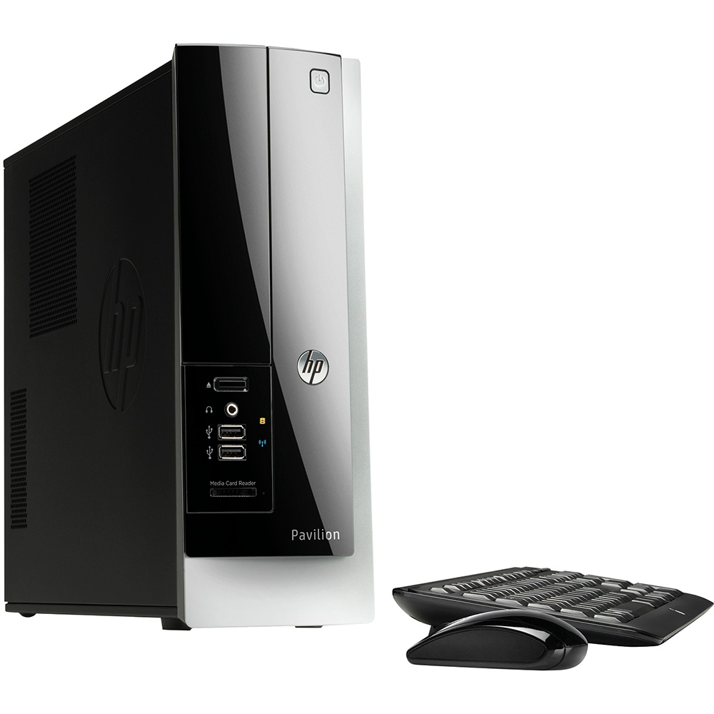 hp pavilion 400 314 slimline desktop amd e1 2500 1 4ghz 4gb 500gb windows 10 ebay. Black Bedroom Furniture Sets. Home Design Ideas