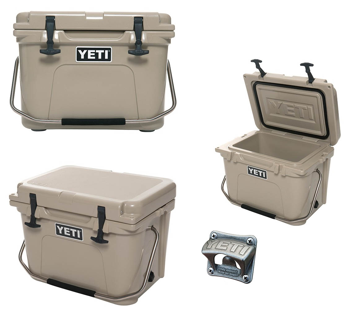 yeti cooler tan roadie 20 cooler size 20 new yr20t free yeti bottle opener ebay. Black Bedroom Furniture Sets. Home Design Ideas