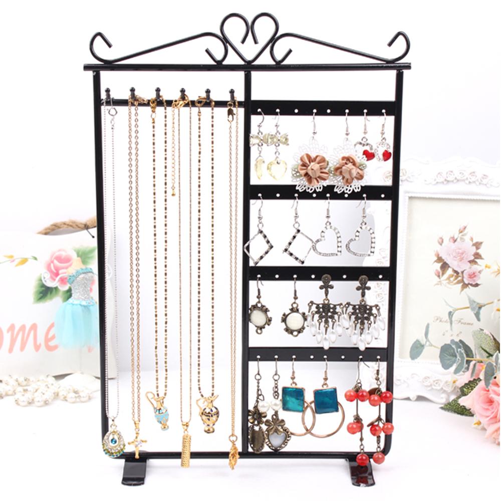 Colgador de joyas soporte para pendientes de metal de joyer a display collares pulseras ebay - Colgador de collares ikea ...