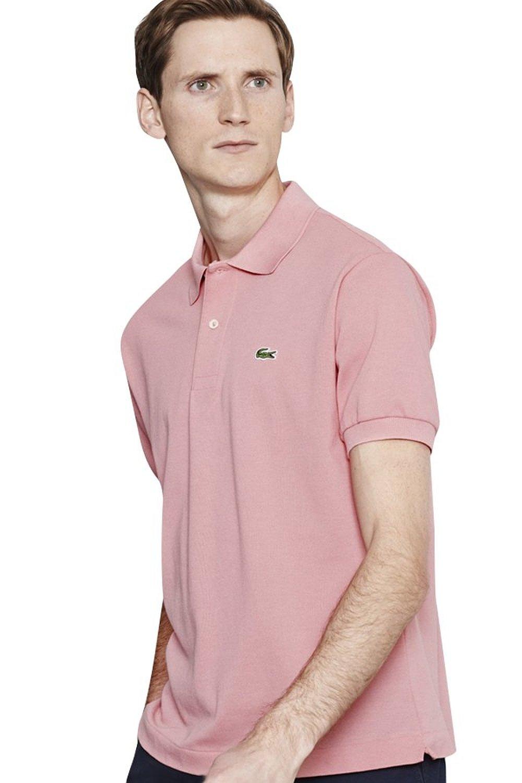 Lacoste short sleeve classic pique polo ebay for Short sleeve lacoste shirt
