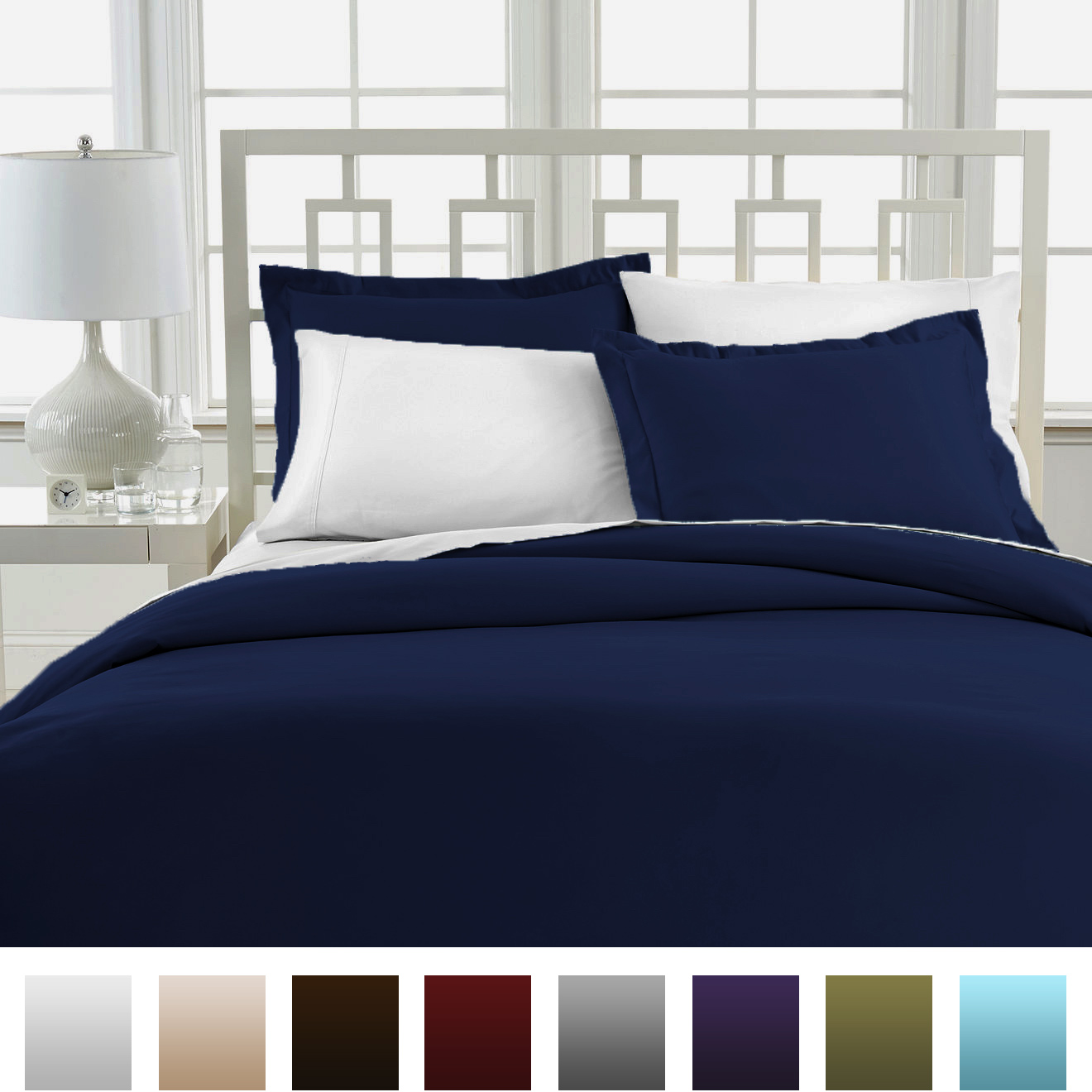 Beckham hotel collection luxury soft duvet cover set ebay for Luxury hotel collection