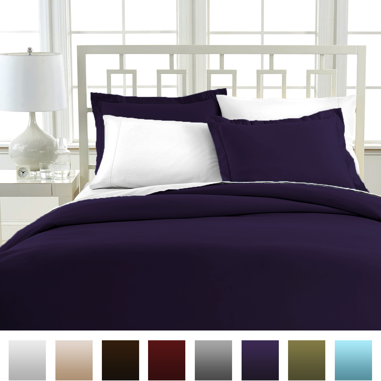 beckham hotel collection luxury soft duvet cover set ebay