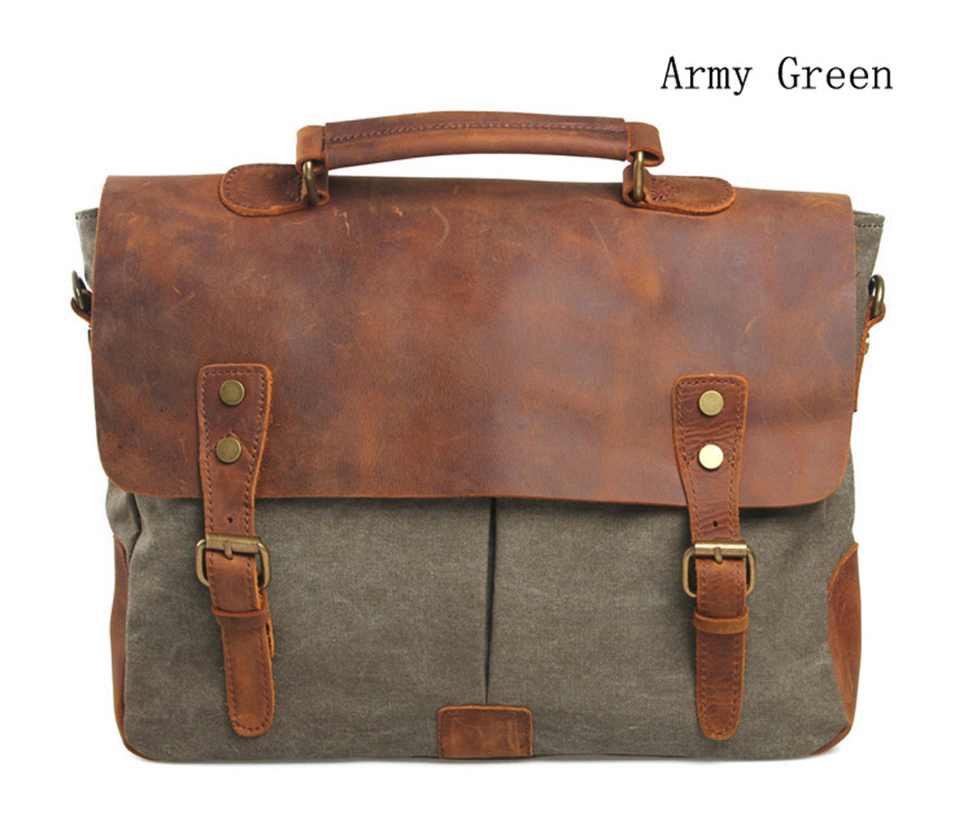 Vintage Retro Satchel Briefcase Messenger Tote Leather and ...