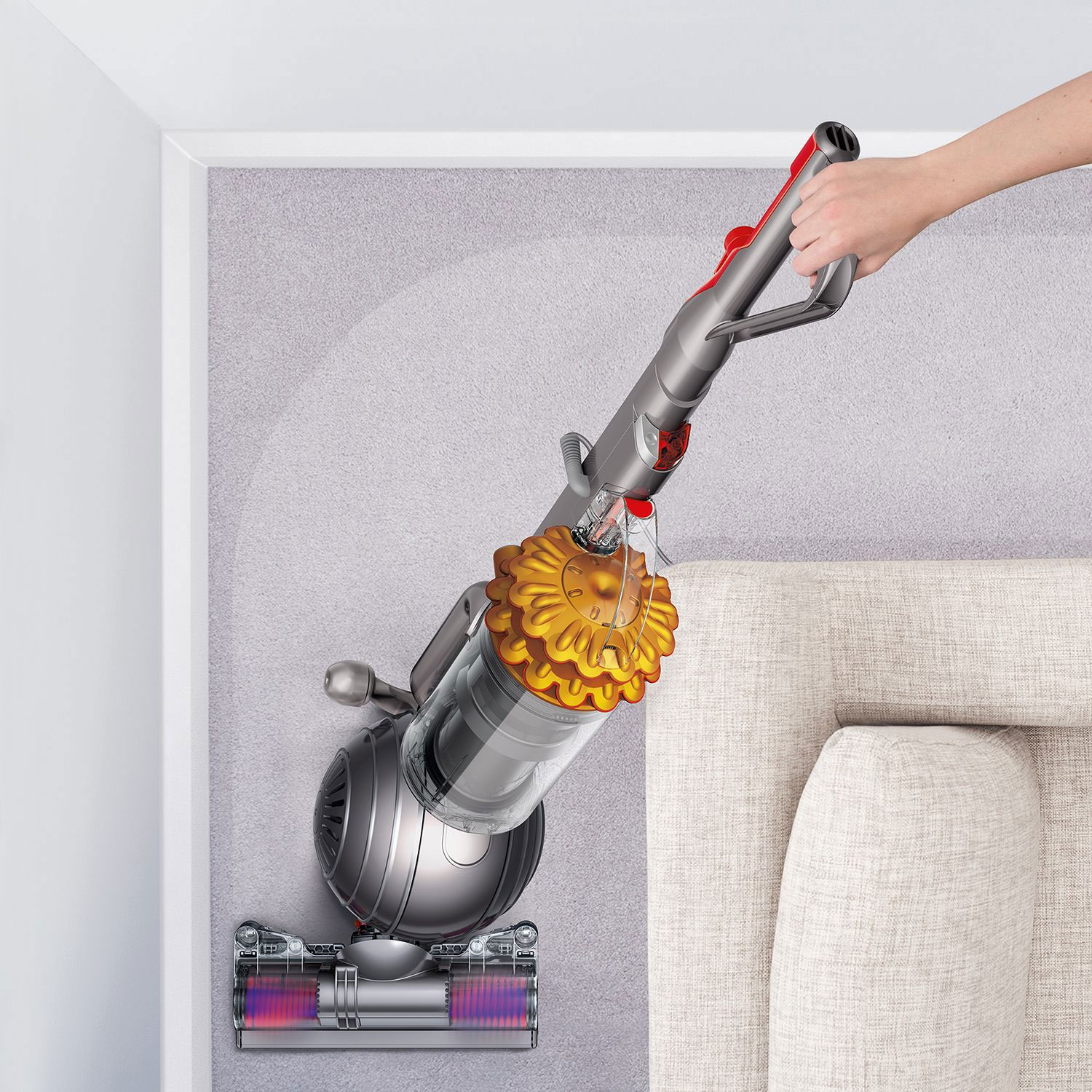 dyson cinetic big ball multi floor upright vacuum up14 purple or yellow ebay. Black Bedroom Furniture Sets. Home Design Ideas