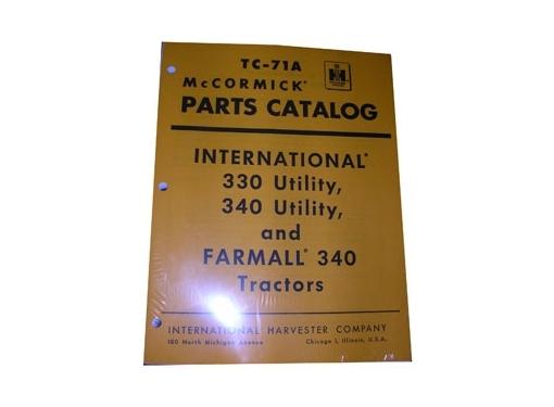 International 340 Utility Parts : Farmall international  utility parts catalog ebay