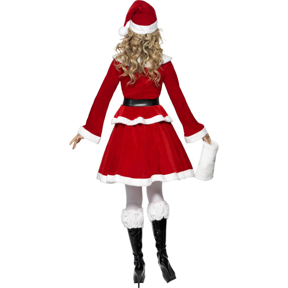 Deluxe adult miss santa claus costume ladies sexy