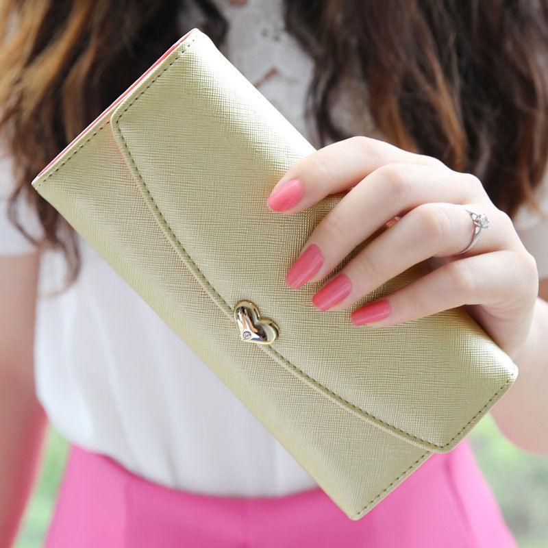 2016 Fashion Women's Faux Leather Clutch Wallet Long Purse Card Holder Handbag
